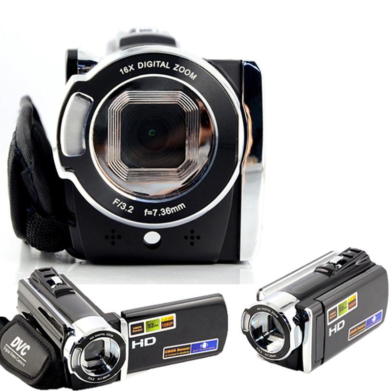 Full HD 1080P Digital Video Camcorder 3'' TFT Rotation Screen 20MP CMOS Sport Action Mini DVR camera 16x Digital Zoom photo TV(China (Mainland))