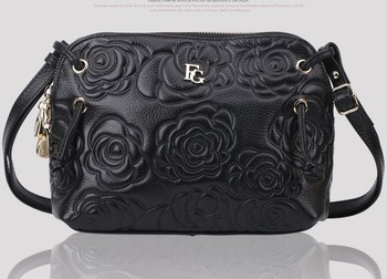 100% GENUIINE LEATHER Designer Handbags Fashion New Luxurious Rose Shoulder Bags For Women SN1057