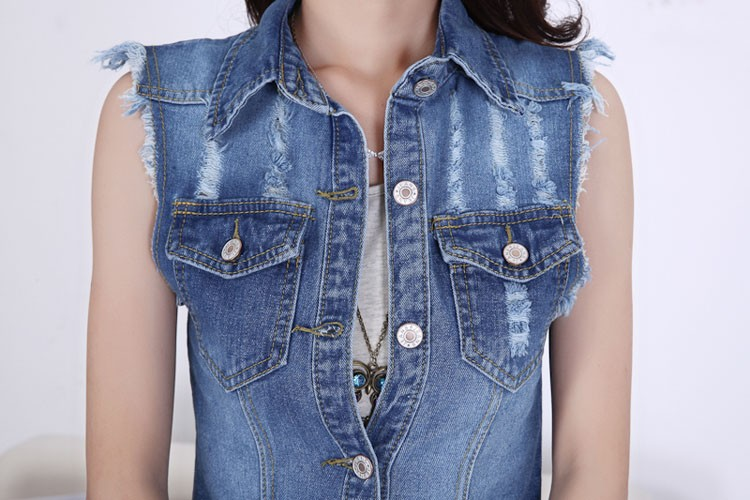 2015 Summer new female denim vest korean style women sleeveless long jeans vests jacket casual woman cowboy clothes big size 5XL (10)