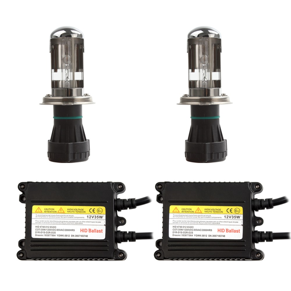 1 Pair 12V H4 35W 3200LM AC Automotive Car Lighting Head Light & HID High Intensity Discharge Lamp(China (Mainland))