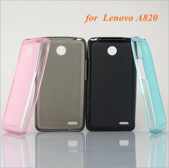 2 Pcs/Lot Soft TPU Matte phone cover case for Lenovo A820,Free Shipping