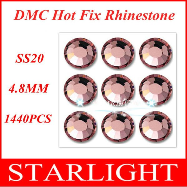 1440pce/bag,ss20 DMC hot fix rhinestone,Lt. Amethyst Color SS20,China post air mail free,9.98USD. star15(China (Mainland))