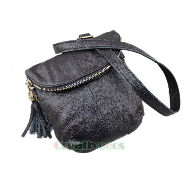 New Women's Genuine Leather Vintage Shoulder Messenger Crossbody Flap Casual Bag Pouch Purse(China (Mainland))