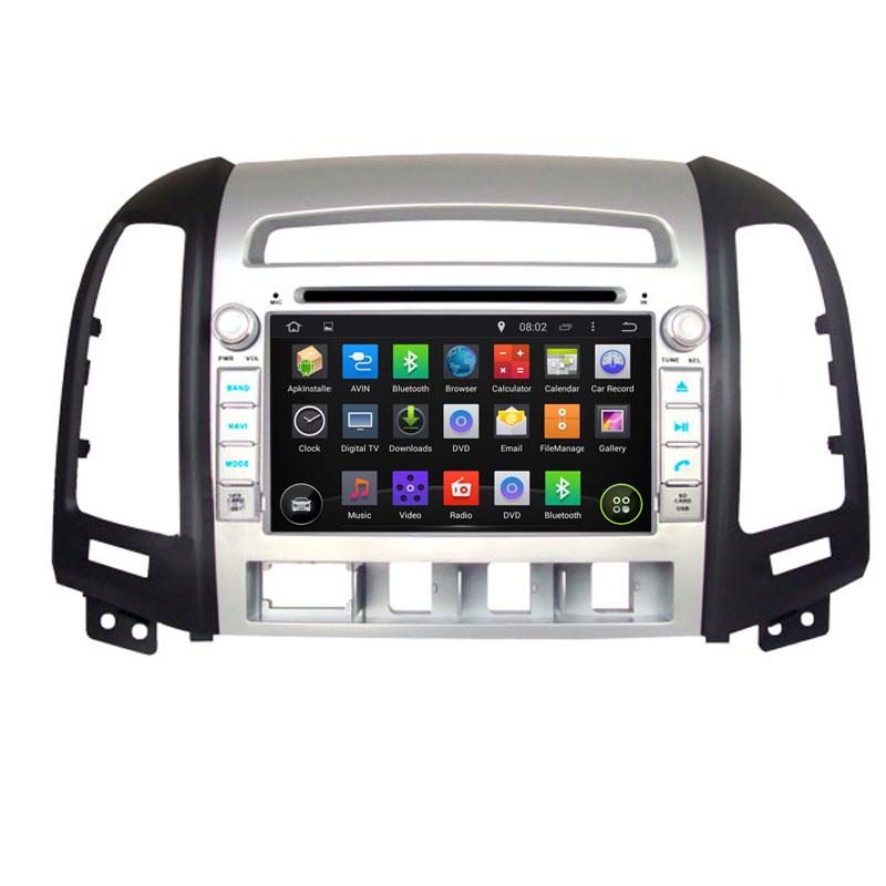 1024*600 Quad Core Android 4.4.4 Fit Hyundai SANTA FE 2006 2007 2008 2009 2010 2011 2012 Car DVD Player GPS TV 3G Radio(China (Mainland))