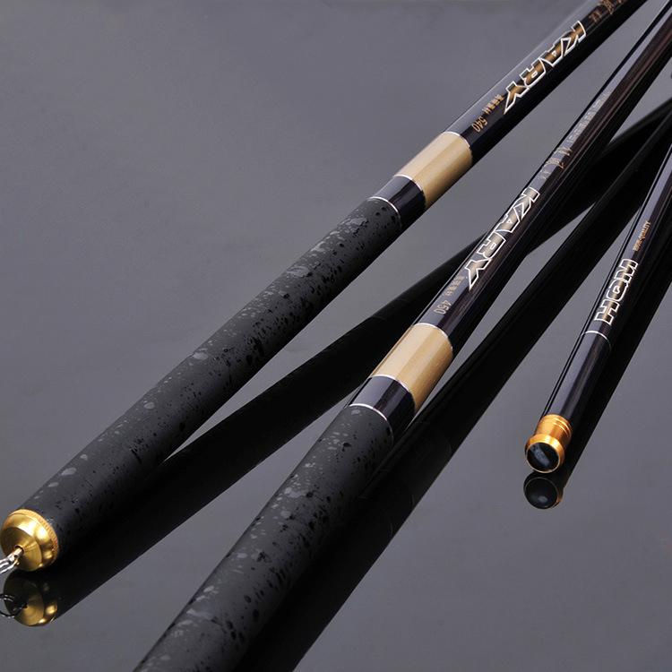3.6m 4.5m 5.4m 6.3m Ultralight Superhard Streams Hand Fishing Rod telescopic carbon fiber fishing rod levara de pesca de carbono(China (Mainland))