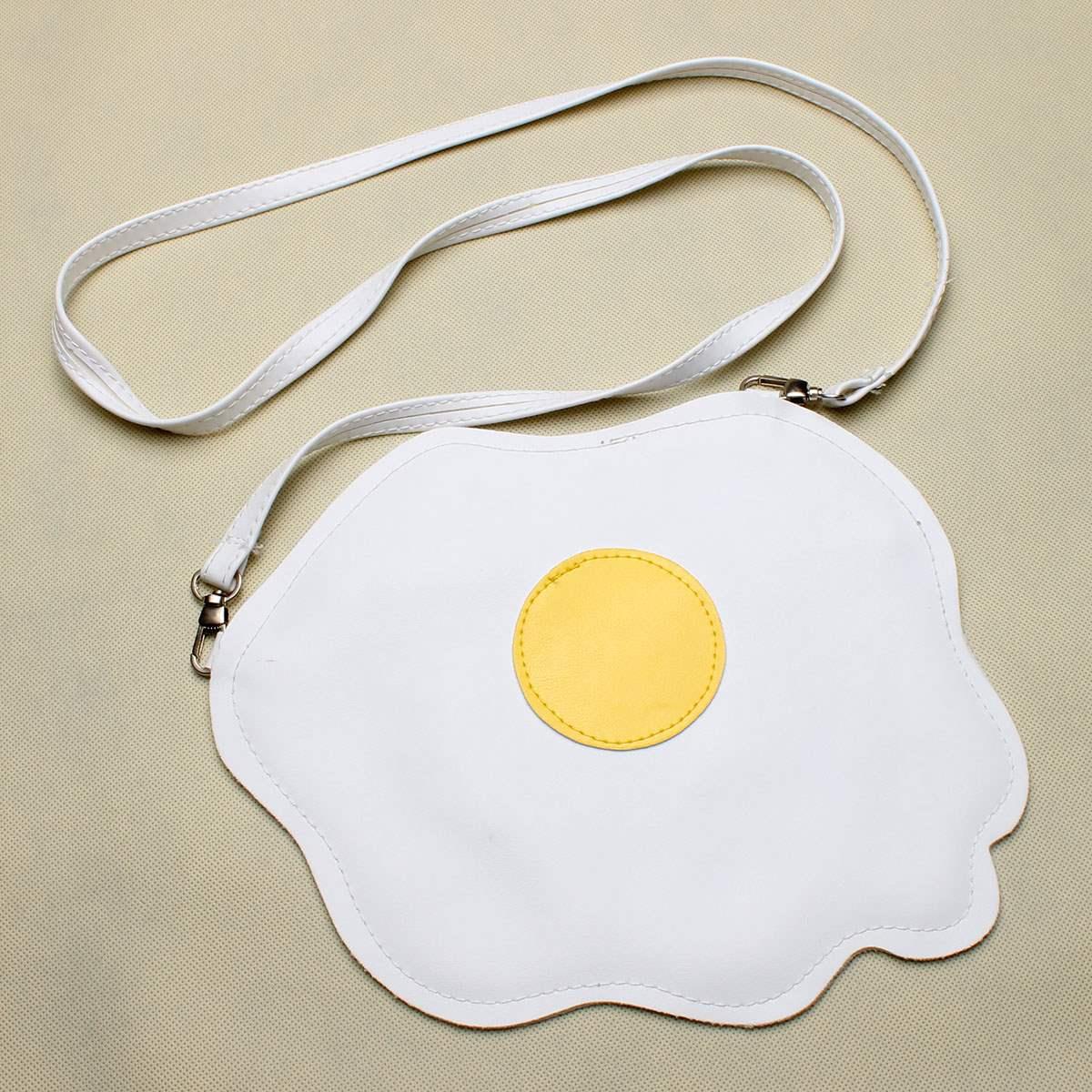 Women Cute Eggs Shoulder Bag Bmelette Shape Bolsa Feminina Fashion Student Gilrs Soft Thin PU Leather Crossbody Messenger Bags<br><br>Aliexpress