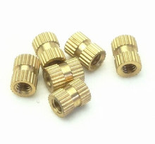 Factory direct copper insert embedded nut double pass knurled brass inserts M6 M8 M10<br><br>Aliexpress
