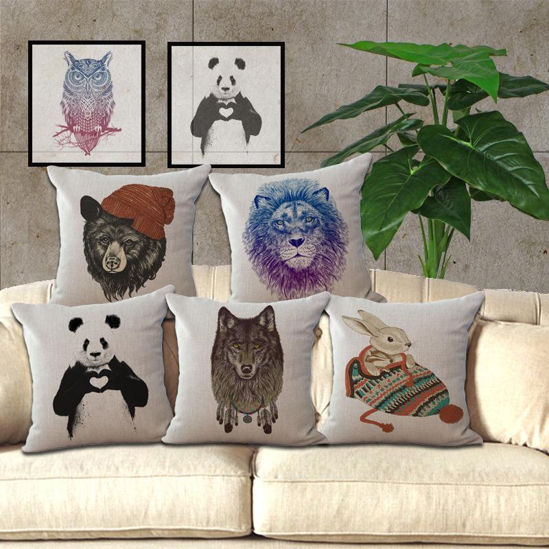 Achetez en gros animal housse de coussin en ligne des for Coussin decoratif pour canape
