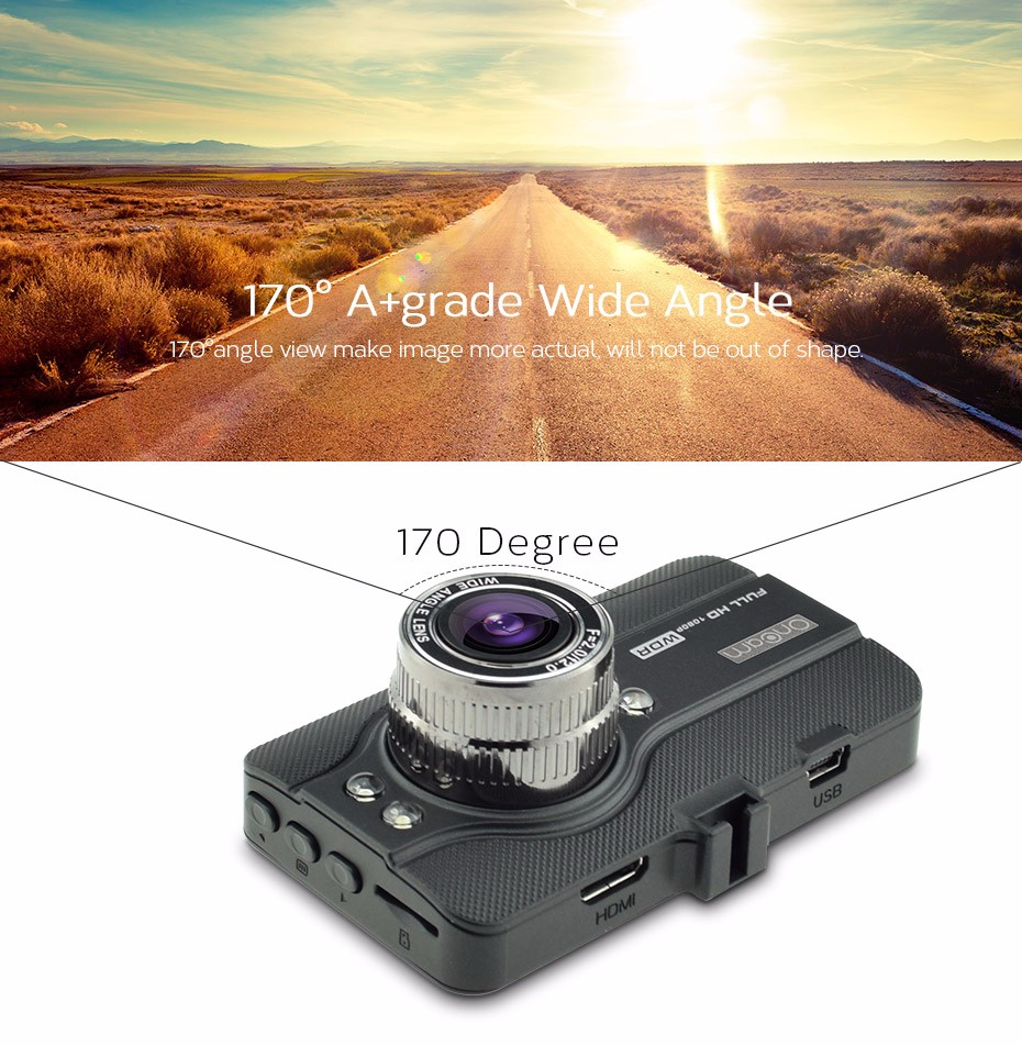 """Купить 3.0 """"дисплей Ночного Видения FHD 1080 P 170 Градусов T628 Функция WDR Тире Cam g-сенсор Камеры Автомобиля DVR Тире Видеокамера"""