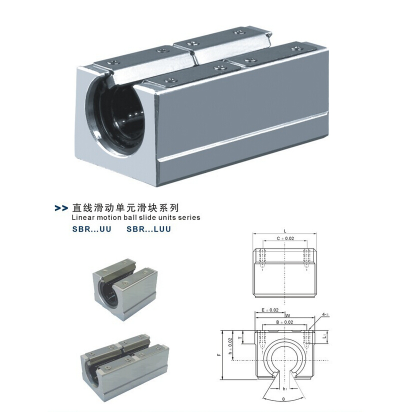 1pc SBR25LUU 25mm Open linear bearing blocks CNC Router linear motion ball slide units CNC parts(China (Mainland))