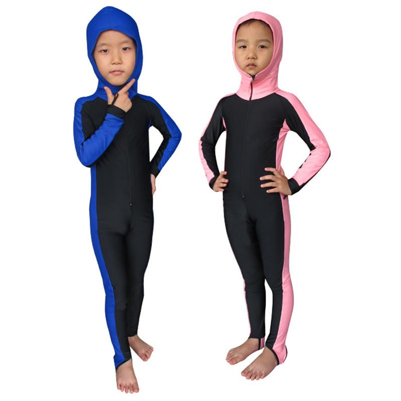 SBART Children UPF50+ Swimming Snorkeling Surfing One Pieces Rashguard Hooded Diving Suit Swimsuit Wetsuit Swimwear Clothing(China (Mainland))