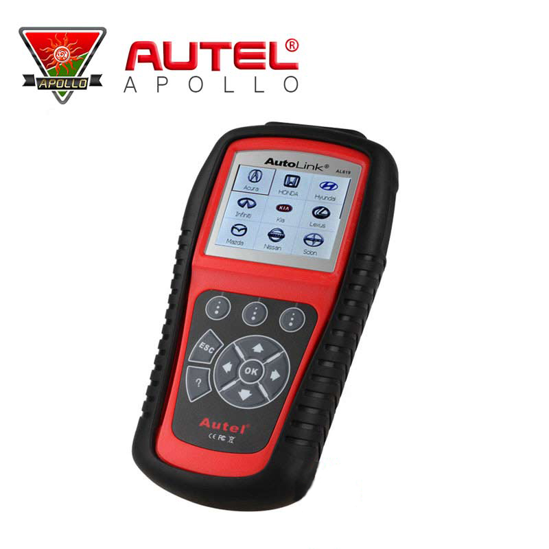 Original AUTEL Product Autel AutoLink AL619 OBDII&CAN Diagnostic Scan Tool ABS & SRS TFT Color Screen(China (Mainland))