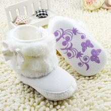 Baby Girls Winter Snow Boots NWT Infant Solid Bowknot Shoes Prewalker 0 18 Months Baby LD