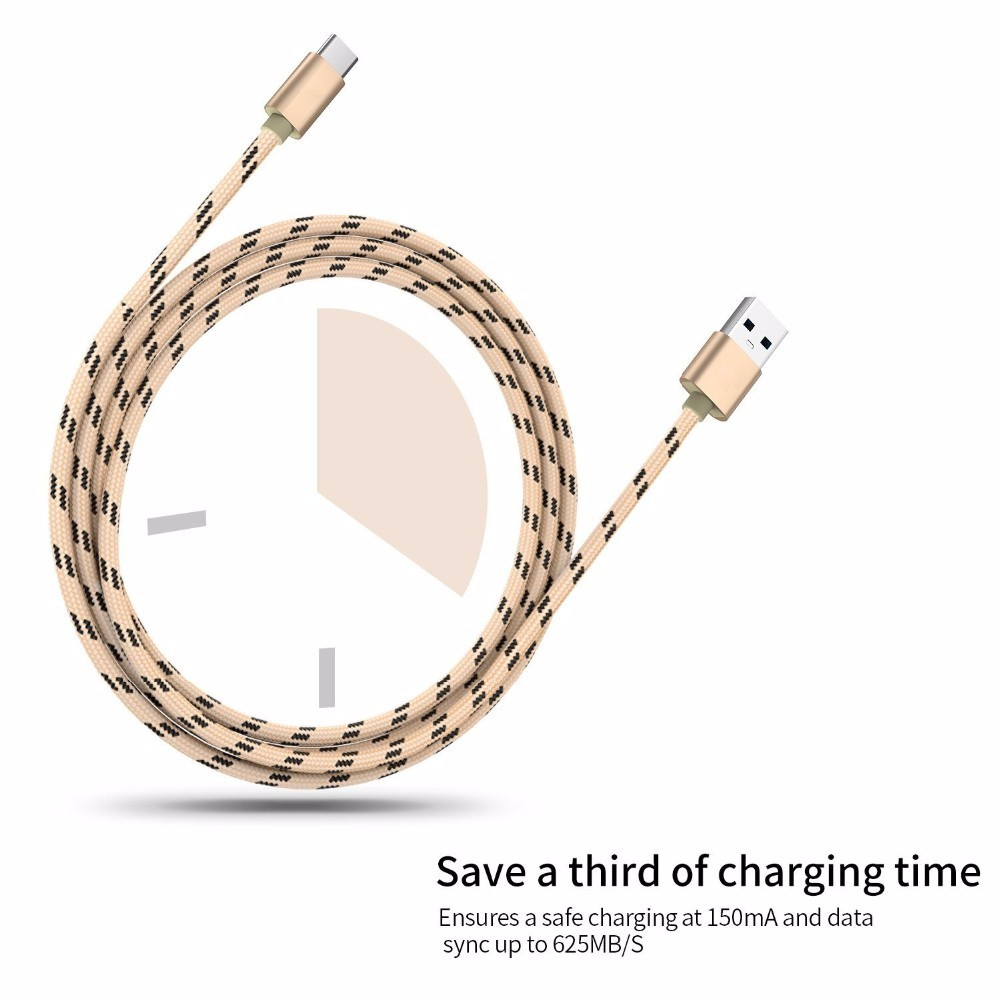 2016 New USB Type C Cable,Fast Sync & Charger Cable Data transmission Type-C USB Cable for MacBook / Xiaomi 4C / Letv / Oneplus