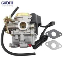 GOOFIT 18mm carburetor GY6 49cc 50cc 60cc 80cc 4 Stroke Scooter Moped ATV Group-91