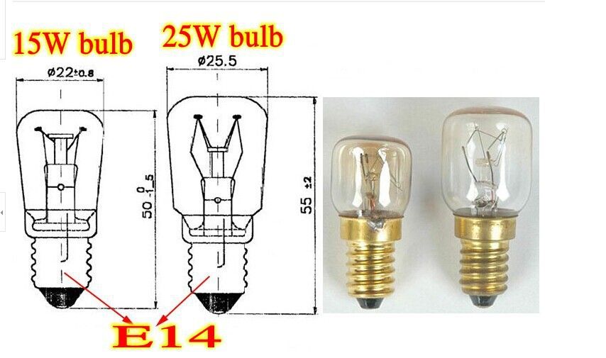 High temperature 15W / 25W 300 Degree SES E14 OVENS toaster/ steam edison filament LIGHT BULBS / COOKER HOOD LAMPS 220v - 240v(China (Mainland))