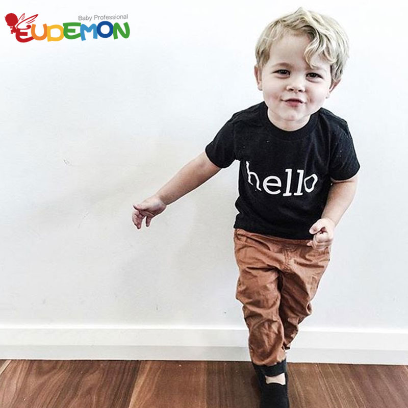 [Eudemon] Fashion Kids t shirt Letter boys clothes Children Clothing Cotton Kids Short Sleeve Toddler t-shirt kids baby t Shirt(China (Mainland))
