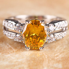 wholesale citrine oval ring