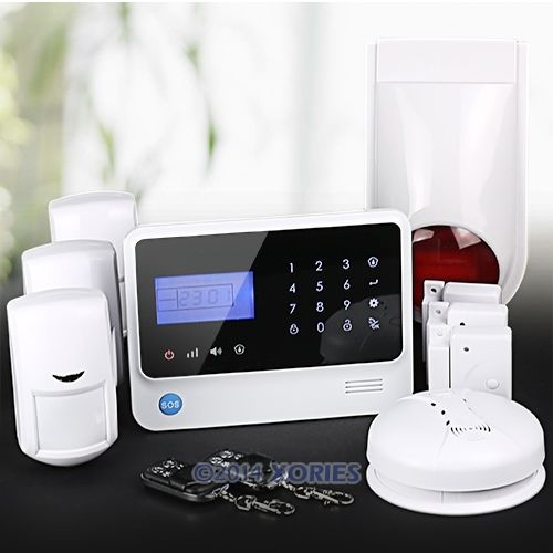 App Controlled Wireless GSM Autodial Home Fire Alarm System+Wireless Flash Siren (Support English and Germany Voice)(China (Mainland))