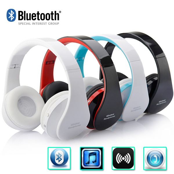 NEW Wireless Bluetooth Headphones Earphone Earbuds Stereo Foldable Handsfree Headset with Mic Microphone for iPhone Galaxy HTC(China (Mainland))