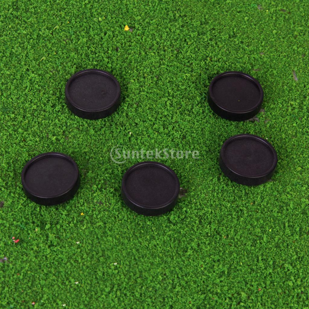 5pcs Plastic Golf Ball Markers Golfer Training Aid Xmas Gift Black(China (Mainland))