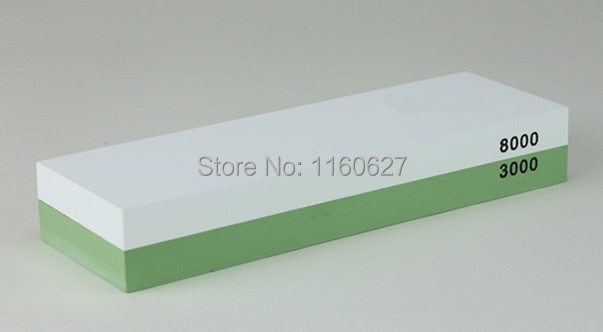 Double side knife sharpening whetstone, 3000/8000 grit water stone for professional chef sharpening(China (Mainland))