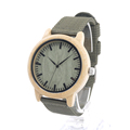 BOBO BIRD D11 Unisex Bamboo Wooden Watches Japan Quartz Wristwatches Soft Nylon Band Wood Dial Face