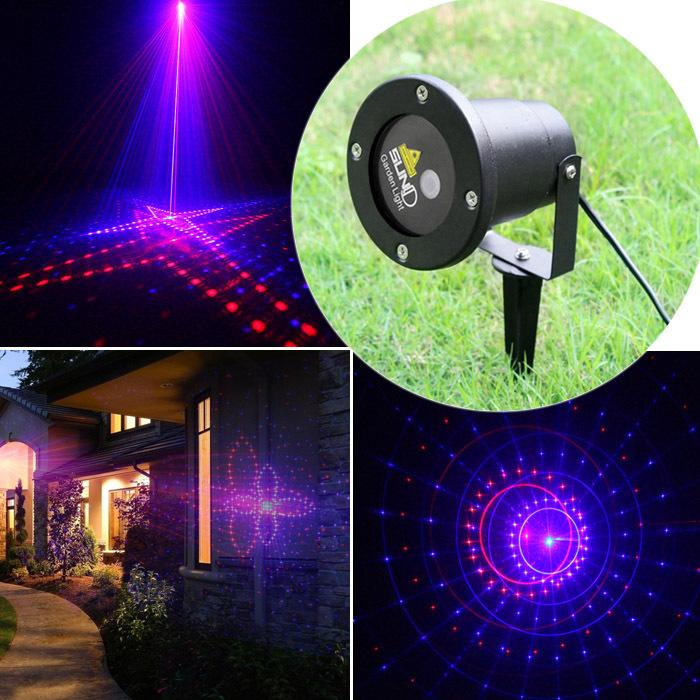 New suny ext rieur rouge bleu laser projecteur paysages for Eclairage noel exterieur projecteur