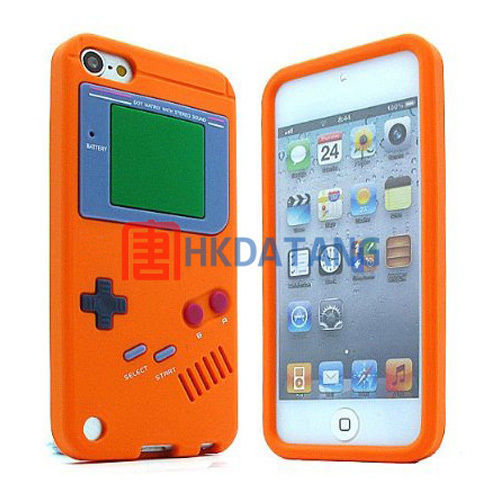 Gameboy Silicone Rubber Case Cover For Apple iPod Touch 5th Generation 5G Free Shipping(China (Mainland))