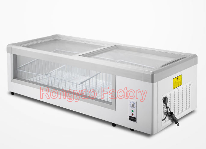 Sui Ling WG4-249DS horizontal single -temperature refrigerated storage refrigerator freezer glass display cabinets full translat<br><br>Aliexpress