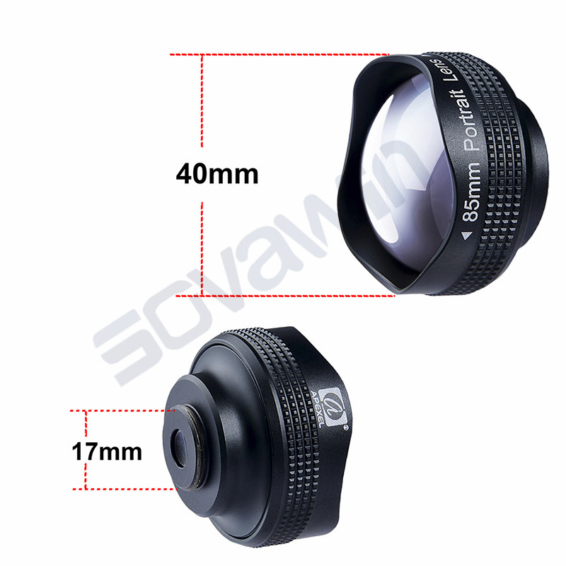 85mm Focal Lengths 3x Telescope Lens Professional Portrait HD Mobile Phone Lenses Universal Clip 23 Degree Perspective Lenses