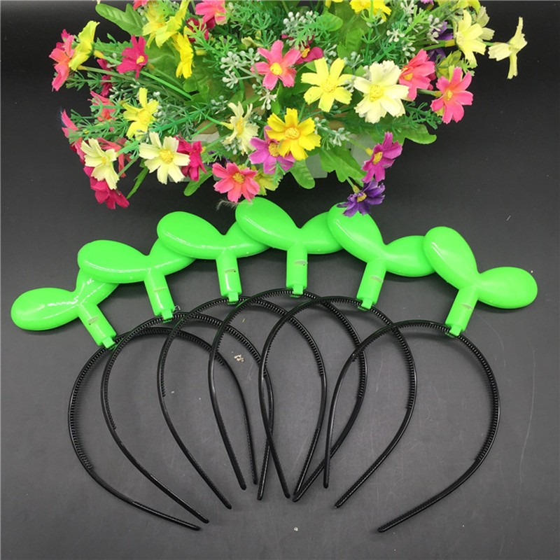 30pcs/lot Led Headband Green Plant Glowing Hairhoop Birthday Party Decoration Light-emitting Headband Sprouts Hair Accessories<br><br>Aliexpress