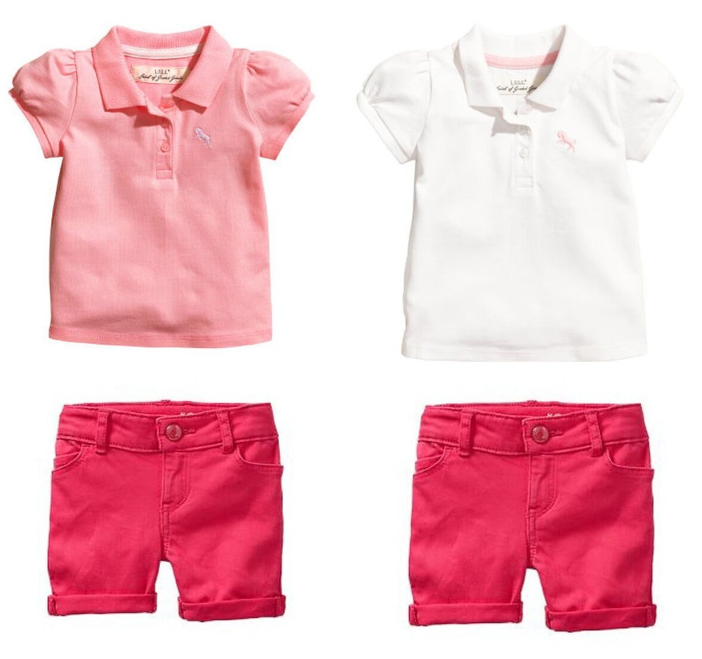 2015 New Summer Girls Clothing Sets ( Girls T shirt + Shorts ) Casual Suit Kids Clothes Vetement Fille Conjunto Menina 1714(China (Mainland))