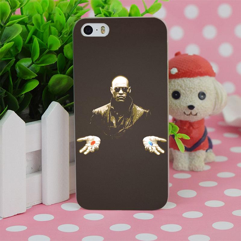 B2378 Matrix Morpheus Choose Pill Transparent Hard Thin Case Cover For Apple iPhone 4 4S 5 5S SE 5C 6 6S 6Plus 6s Plus(China (Mainland))