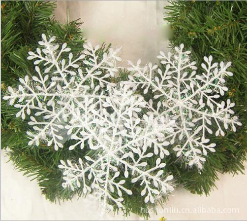 30pcs/lot 11cm Christmas Secoration White Snow Snowflakes Bunch Hanging Ornaments Stereoscopic Snow Christmas Tree Accessories(China (Mainland))