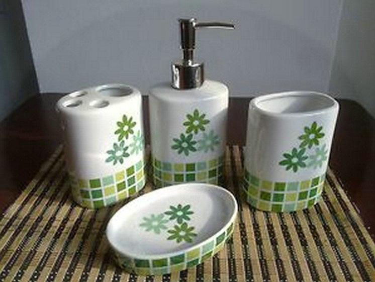 NEW Brand Modern Special Designed Bloom 4pcs Bathroom Soap dispenser Accessory Sets b8315V torneiras cozinha(China (Mainland))