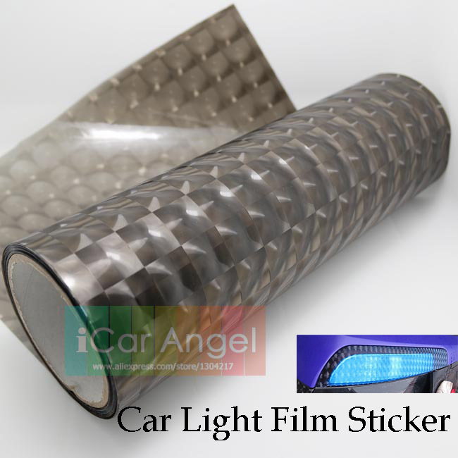 30x100cm Car headlights film Auto Taillights Stickers Auto Styling Translucent Tint lights Mirror Change Color Car film Cat Eye(China (Mainland))