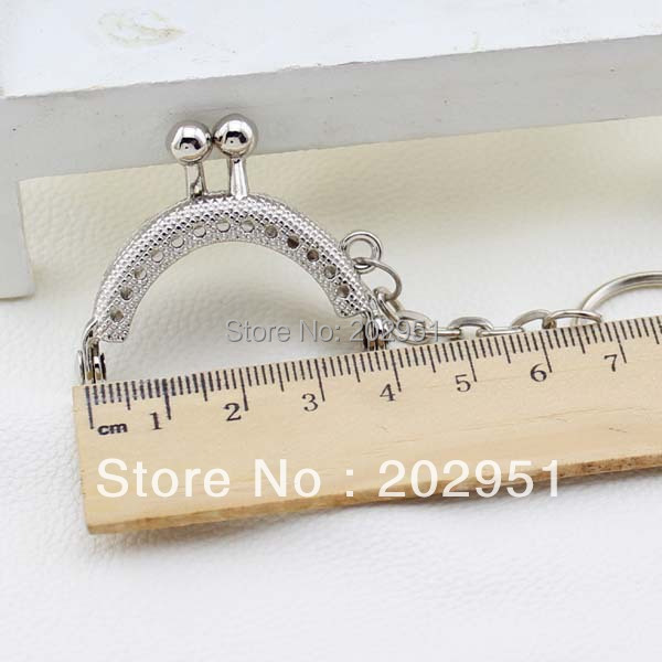 20pcs High Quality 4 CM mini Silver Metal Purse Frame handle Completed Holes wholesale ,Freeshipping(China (Mainland))