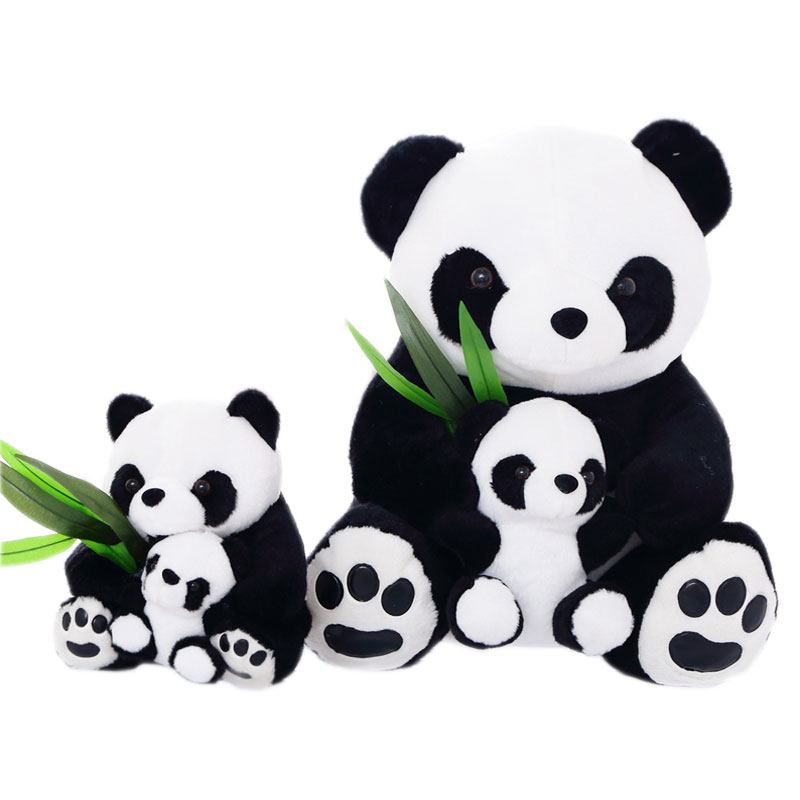 25cm Sitting Mother and Baby Panda Plush Toys Stuffed Panda Dolls kids Toys Lovely BAMBOO Panda Final Fantasy Plush Toy Peluches(China (Mainland))