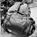 2014 new fashion Korean women s casual shoulder bag convenient travel large PU handbag genuine men