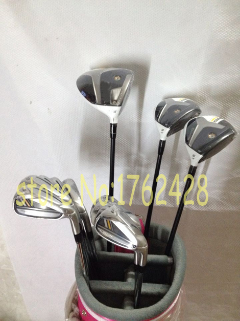 Complete golf clubs rocketballez stage 2 driver + fairway woods 3# 5# + Rbladez golf irons set 4-9#,PAS free headcover 12pcs/set(China (Mainland))