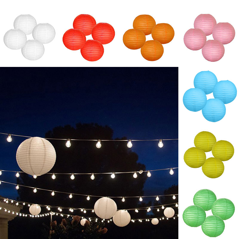4pcs 4 Inch Chinese Paper Lanterns for Wedding Party Meeting Room Mall Decoration TB Sale(China (Mainland))