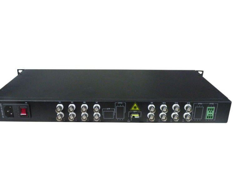 16-CH FIBRE OPTICAL VIDEO TRANSCEIVER+16 channels Audio optical multiplexer(China (Mainland))