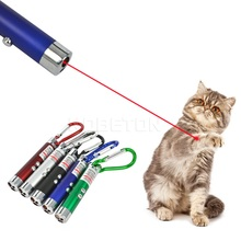 3 in 1 Mini Red Laser Pointer Pen LED Flashlight Show Funny Pet stick Childrens Cat Toy  Money Detector Pen Torch With Keychain(China (Mainland))