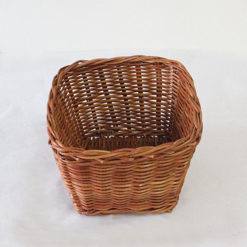 Primaries japanese style square small debris rattan storage basket simple woven waste basket - Rattan waste basket ...