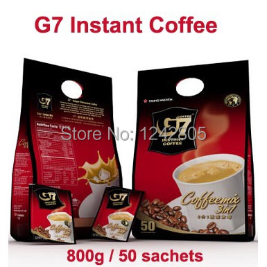 800g 50sachets Best Vietnam coffee 3 in1 Healthy slimming food Vietnamese instant coffee G7