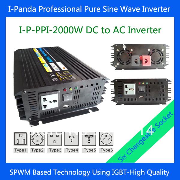 2000W Car power converter car converter 12v Pure sine wave power inverter ,Off-grid solar power inverter 2000W(China (Mainland))