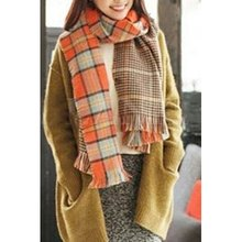 2016 Womens Spring Fall Winter Fashion Sophisticated Fringe Decorated And Tartan Design Scarf Women Soft Shawl(China (Mainland))
