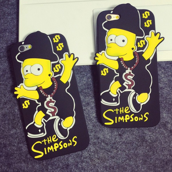 Case For iPhone 6/6s 6 plus/6s Plus Cover Soft Silicone Cute Simpson Back Cover Case(China (Mainland))