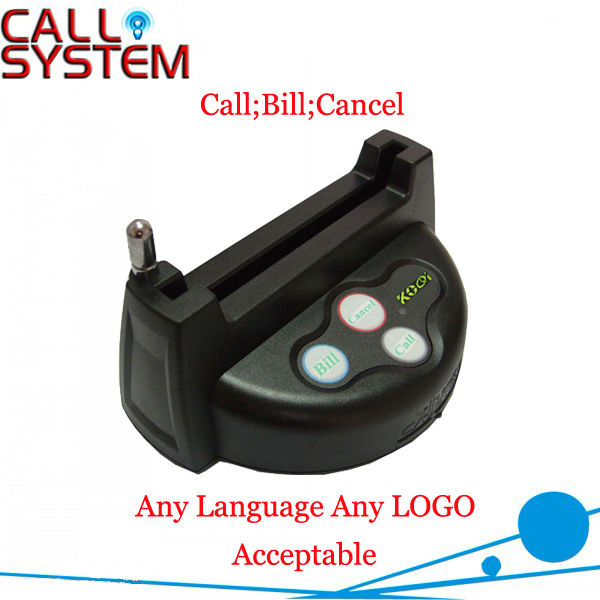 Best-selling Wireless Call Button K-G3 for restaurant hotel , Any Language Any LOGO Acceptable(China (Mainland))